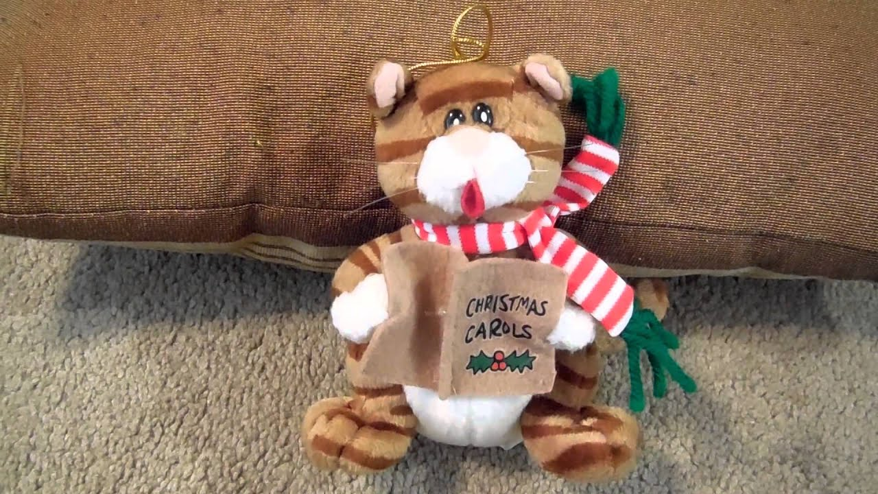 Christmas Carol Song Meow Singing Cat Toy Video We Wish