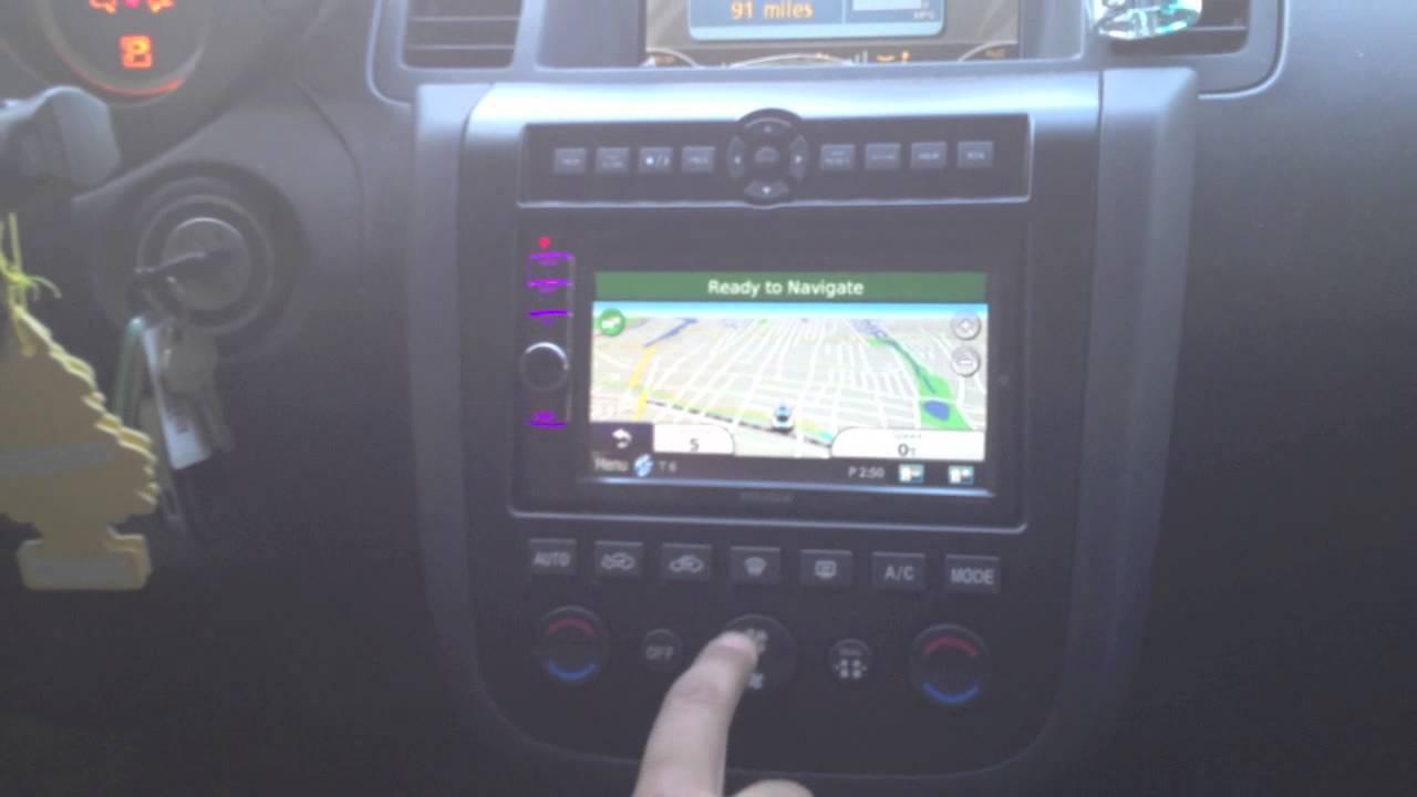 2007 Nissan Murano >> 2007 Nissan Murano Custom Installed a Kenwood DNX6190HD - YouTube