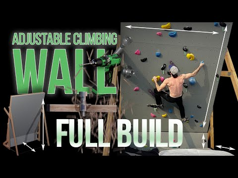 Building An Adjustable Home Climbing Wall During Isolation - 12ft Bouldering Wall - Full Build Video