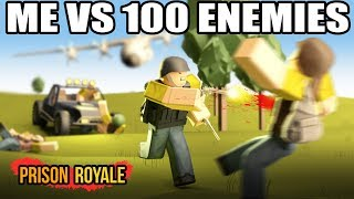 ROBLOX: ME VS 100 ENEMIES! 🔫😱 Player Unknown's Battlegrounds! ROBLOX GAMEPLAY