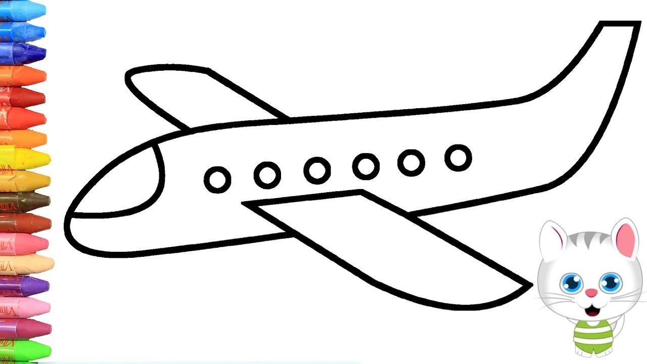 Wie zeichnet man Flugzeug   Zeichnen und Ausmalen für ...