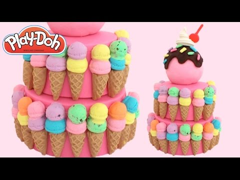 Thumbnail: DIY How to Make Play Doh Ice Cream Cake with Modelling Clay * RainbowLearning