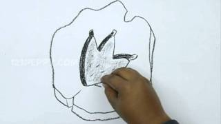 How to Draw an Animal Foot Print
