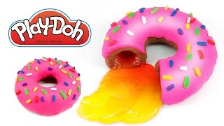 play doh how to make a slime jelly donut monsterkids