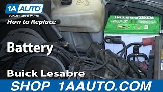 How To Replace Install Dead Battery 1992-99 Buick Lesabre