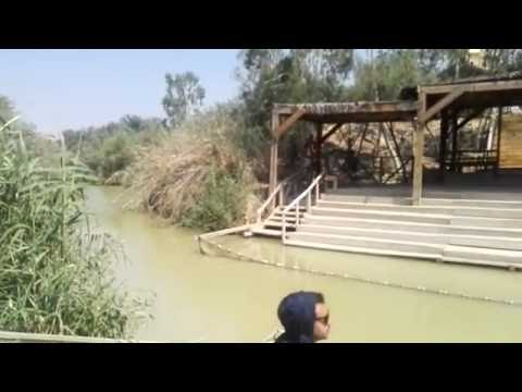 The place where Jesus was baptized (Jordan River). Qasr el Yahud near Jericho and the Dead Sea