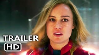 CAPTAIN MARVEL Trailer # 2 (NEW, 2019) Brie Larson, Marvel Movie HD