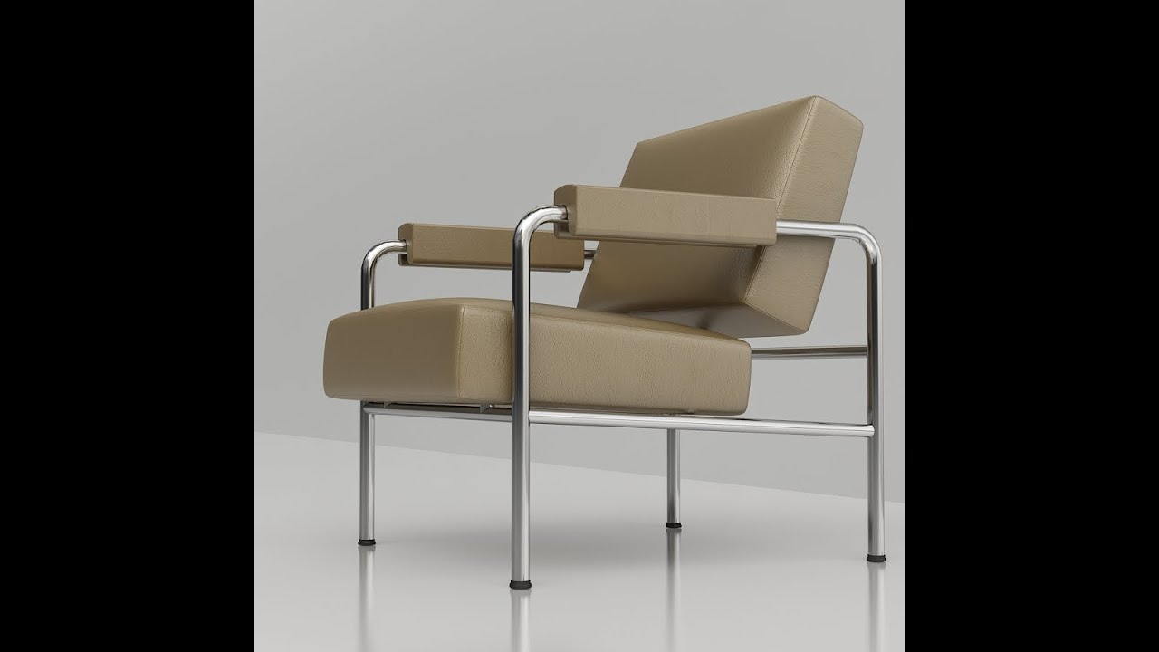 3d Furniture Le Corbusier Furniture 3d Collection Youtube