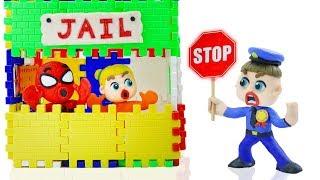 SUPERHERO BABY POLICE COP PLAYHOUSE 💖 Stop Motion Cartoons Animation