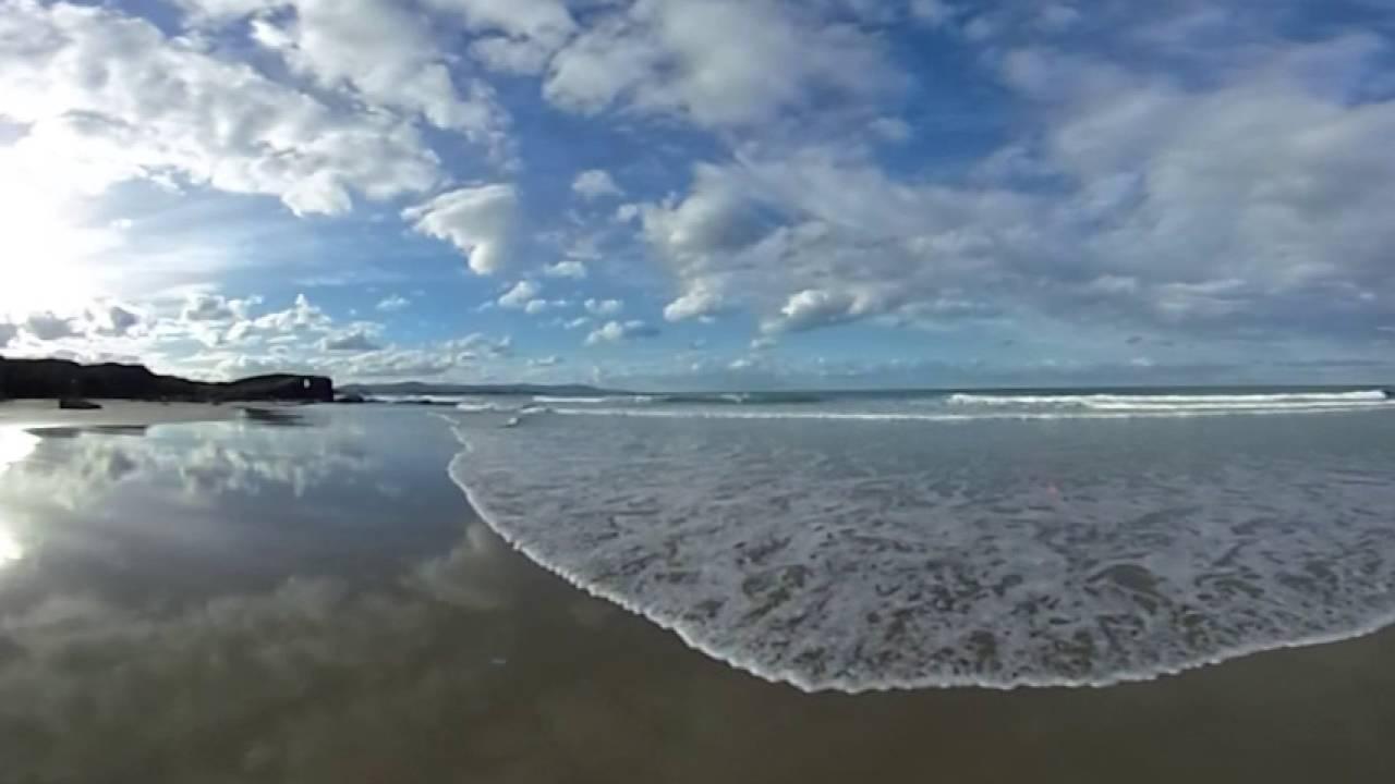 playa de las catedrales 360