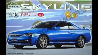 Обзор Nissan Skyline ER34 25GT Turbo 1/24 (сборные модели)
