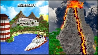 MINECRAFT PRIVATE ISLAND REDSTONE HOUSE!