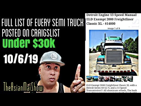 Full List Of Every Semi Truck Posted On Craigslist Under $30,000