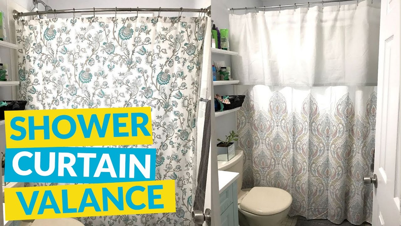 Shower Curtain Valance - YouTube
