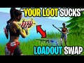 I swapped loadouts with every player I eliminated (so hard)