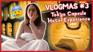 FIRST TIME CAPSULE HOTEL EXPERIENCE IN TOKYO! VLOGMAS #3