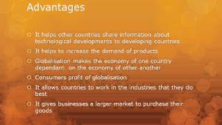 The Advantages and Disadvantages of Globalization