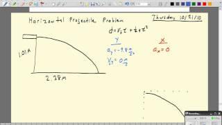 [DH-1] Horizontal Projectile Proḃlem - Horizontal Velocity Calculation