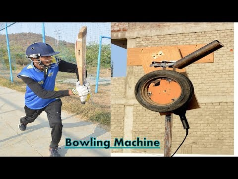 How To Make Cricket Bowling Machine - At Home