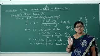 I PUC | Statistics | Analysis of Bivariate Data - 10