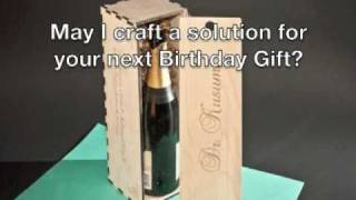 The Making Of A Birthday Wine Box - Laser Engraved
