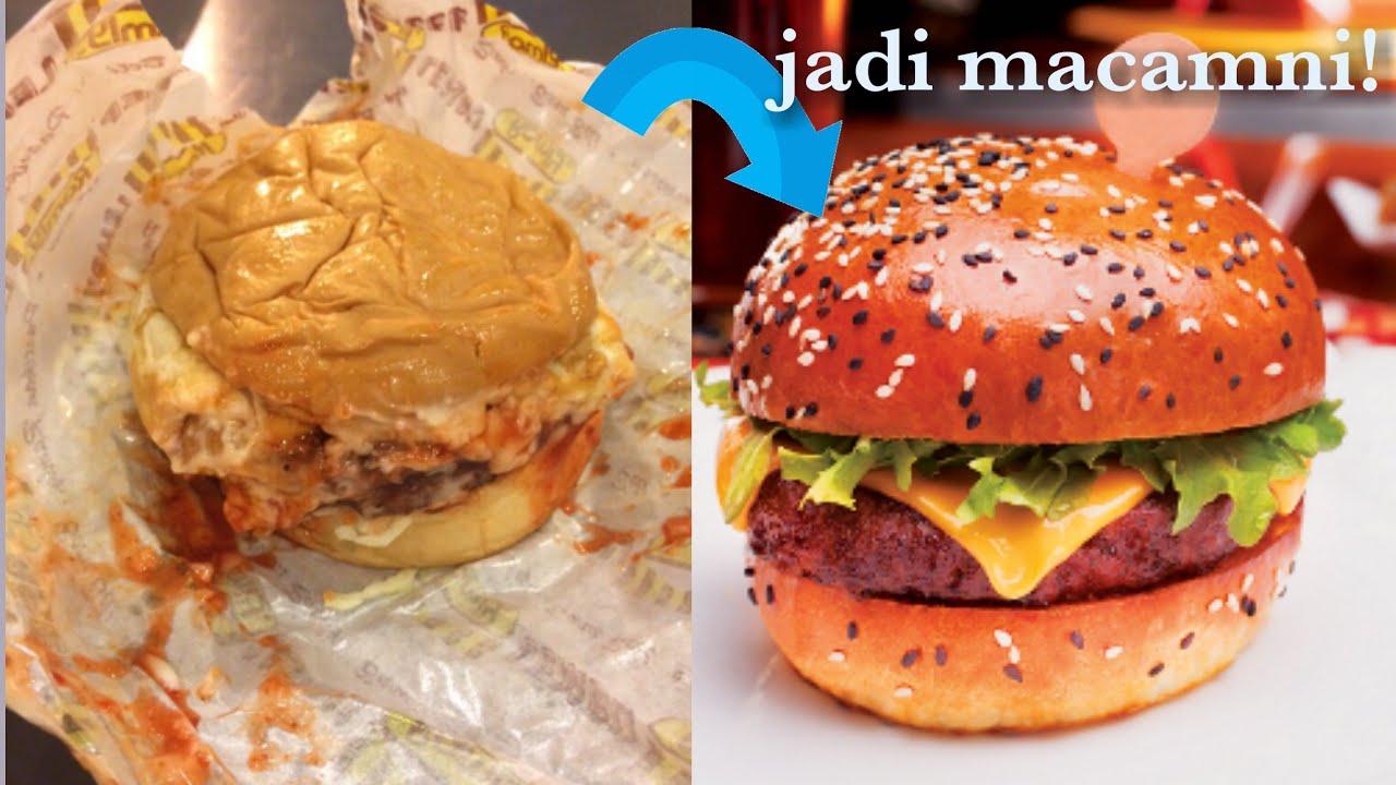 Cara Buat Berger Ramly Jadi Burger Gordon Ramsay Burger Malaysia Youtube