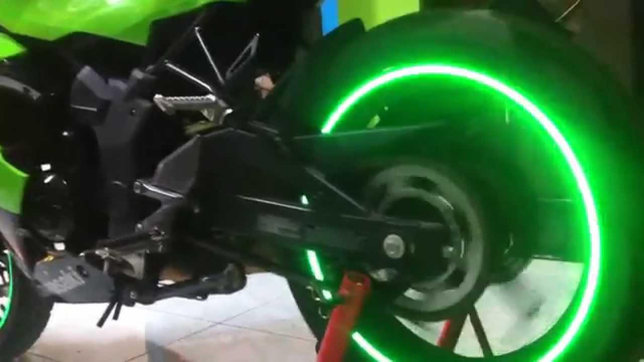 Green hyper spectrum motorcycle rim stickers
