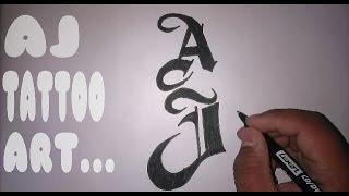 how to draw WWE superstar AJ Styles Tattoo.