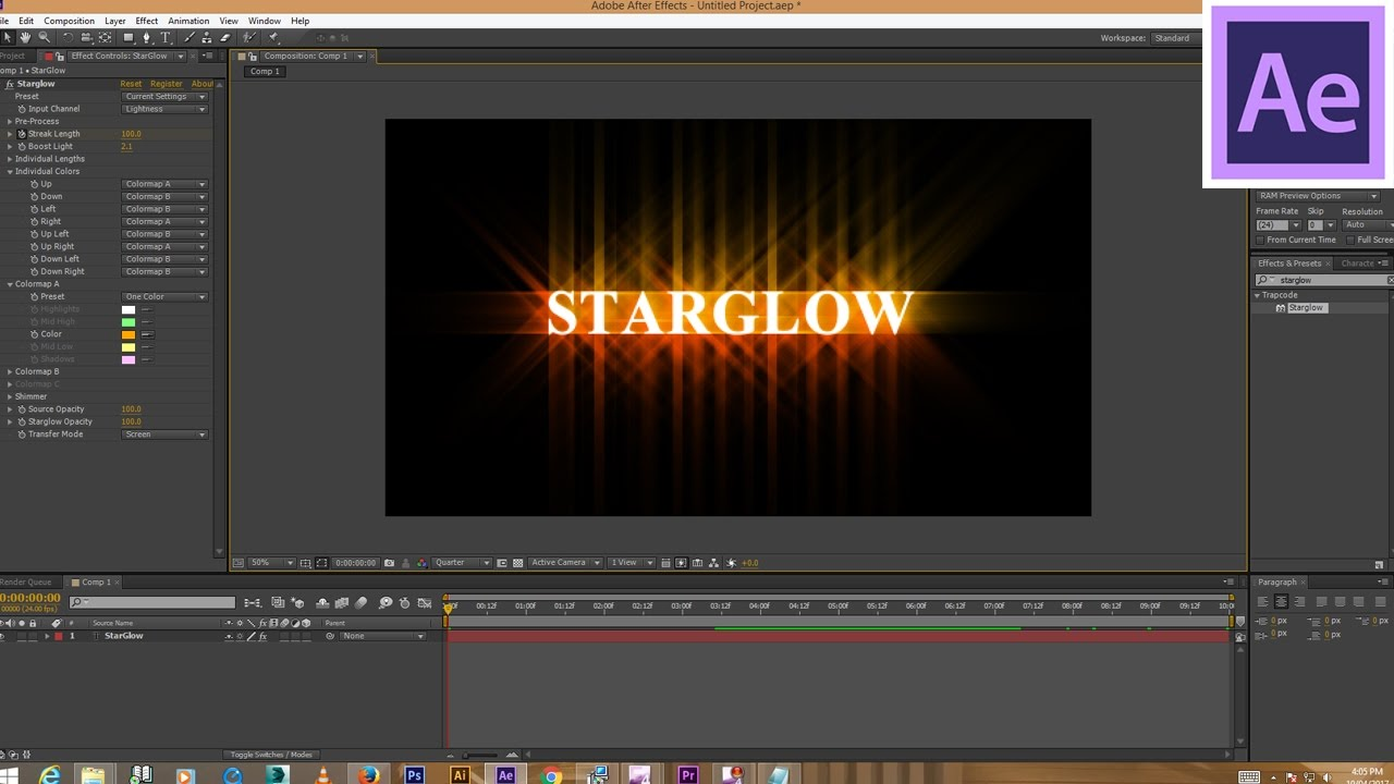 star glow after effects plugin free download