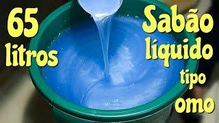 Receita de Sabão Liquido Tipo OMO