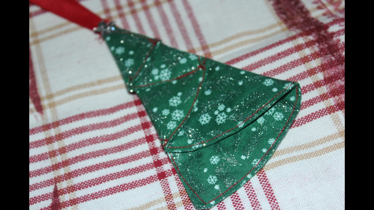 Christmas Tree Ornament Fabric Sewn Surprise Ending