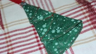 Christmas Tree Ornament - Fabric Sewn - Surprise Ending!
