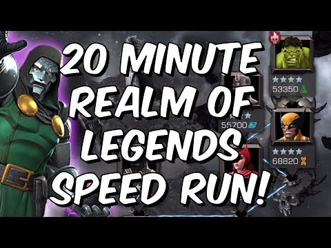 Doctor Doom 20 Minute Realm Of Legends Speed Run With 5 Star Rank 5! - Marvel Contest Of Champions