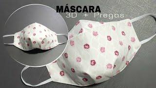 NOVA Máscara 3D com pregas [A MAIS FÁCIL] NEW 3D mask with pleats [EASIER]