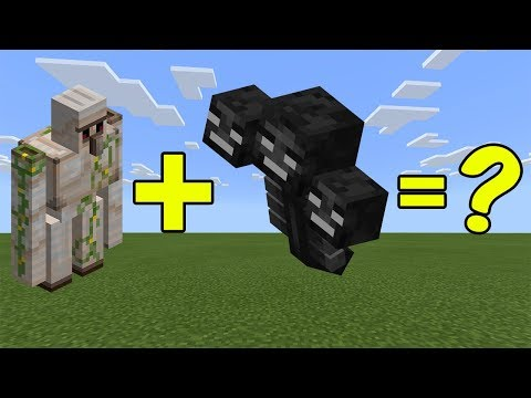 I Combined An Iron Golem And The Wither In Minecraft - Then This Happened...