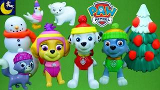 RARE Paw Patrol Toys Winter Rescue Sets Marshall Chickaletta Skye Polar Bear Rocky Callie Kitty Toys