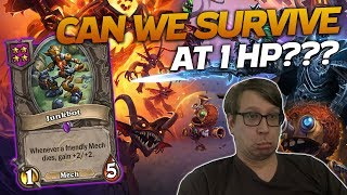 Hanging on by a THREAD! 1HP GAME! | Hearthstone Battlegrounds | Savjz