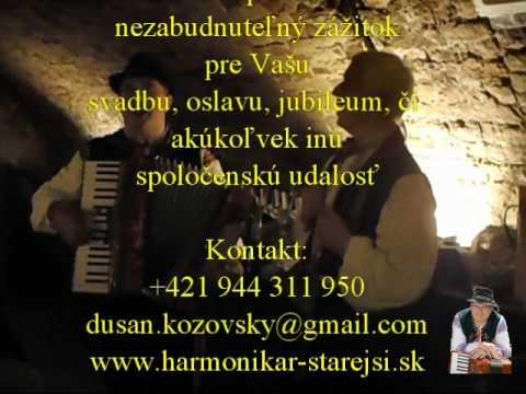 447bf6938 Harmonikár Dušan Kozovský so spevákom - ukážka z vystúpenia - 2 ...