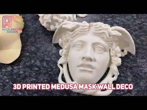 Download AM TIMELAPSE: 3D PRINTED MEDUSA MASK WALL DECO