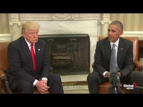 President Barack Obama, President-elect Donald Trump meet at White House
