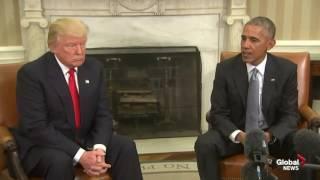 president barack obama president elect donald trump meet at white house