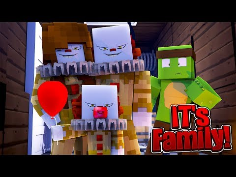 JOINING IT THE CLOWN'S FAMILY - Minecraft Family w/Tinyturtle