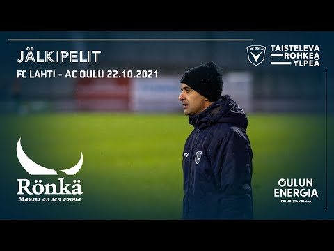 ACOTV: Rönkä jälkipelit FC Lahti - AC Oulu 22.10.2021 (Veikkausliiga)