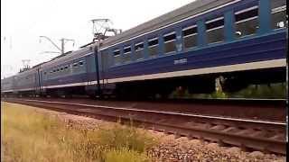 Электропоезд ЕД-9М сообщением Фастов - Мироновка (6238)(, 2015-08-12T18:59:10.000Z)