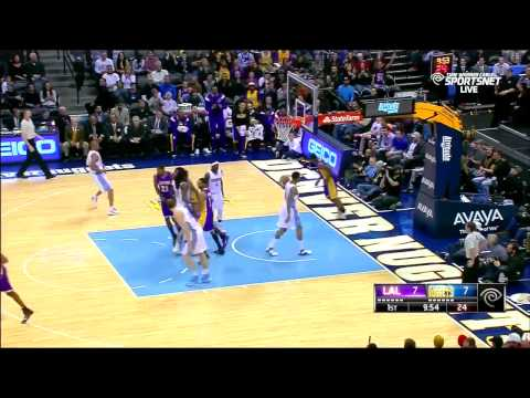 Ronnie Price Steal And Dunk LA Lakers vs Denver Nuggets December 30, 2014 NBA Season 2014 15