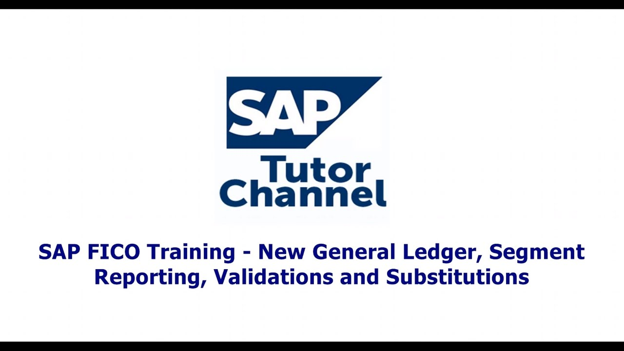 SAP FICO Training   New General Ledger, Segment Reporting, Validations and Substitutions