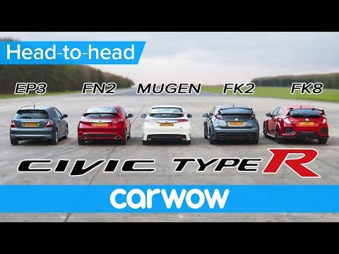 Honda Civic Type R generations DRAG & ROLLING RACE, BRAKE TEST and review   Head2Head