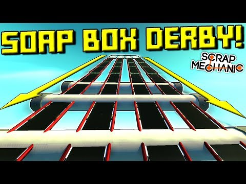 CRAZY SOAP BOX DERBY OBSTACLE RACE!  - Scrap Mechanic Multiplayer Monday! Ep 77