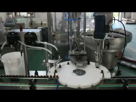 Automatic E-Liquid filling and capping machine with stopper