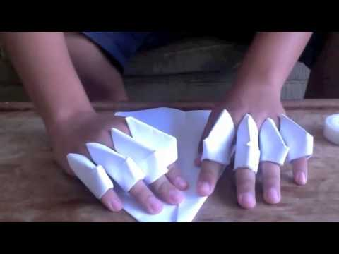 How to make a paper gauntlet